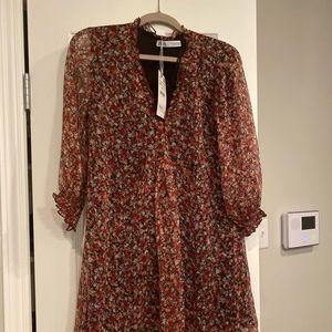 Zara Floral Dress NWT long sleeve Medium